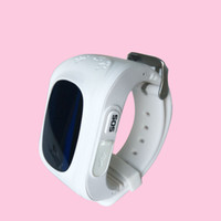 Wholesale Lcd Oled - Wholesale- LBS Tracker Q50 Smart Watch For Children Wearable OLED LCD Electronic Anti-Lost with SIM Card Cell Phone Watches