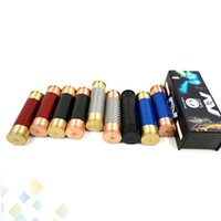 Wholesale high quality fiber resale online - AV ABLE MOD Carbon Fiber Mechanical Mod High quality Clone Electronic Cigarette Fit battery Brass Copper Material DHL Free
