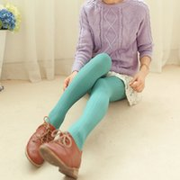 Wholesale opaque tights women - Wholesale- Women's Sexy Footed Thick Opaque Pantyhose Stretch 160 Denier Long Soft Autumn Winter Nylon Tights Candy Color Stockings FN059