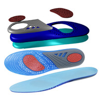 New Silicone Gel Shock Absorption Active Insoles Relieve Foot Pain Stable Heel Memory Insole Anti-friction Feet Care Shoe Pad Volume Large Bath & Shower Scrubs & Bodys Treatments