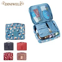 Wholesale Monopoly Bag - Wholesale- DINIWELL Unisex Waterproof Cosmetic Makeup Bag Toiletry Travel Kit Organizer Print Storage Mesh Pocket Purse Bag Monopoly Pouch