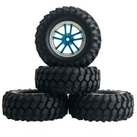 Wholesale Rc Crawler Wheels - RC HSP HPI 26-7006 Blue Rubber Sponge Tire&Plastic Wheel For 1:10 Rock Crawler