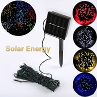 Wholesale Outdoor Plastic Tree - Solar Coloured Lights Outdoor Garden Decorations 100LED Lamp string Christmas Decorative Lights Christmas Tree Colorful Lights DHL