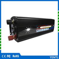 inversor de onda sinusoidal ups al por mayor-Pantalla LCD inversor UPS sinusoidal modificada 5000W (pico 10000w) 12v a 220v Inversor UPS Silencioso Cargador rápido fuente de alimentación cargador de batería para automóvil