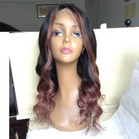 Wholesale Highlighted Human Lace Front Wigs - highlight human hair wig brazilian human hair full lace wig with baby hair lace front wig
