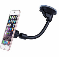 Wholesale Magnetic Arm - Long Arm Car Suction Cup Magnetic Windshield Dash Mount Holder For iPhone 7 Plus 6s Plus 5s 360 Degree Rotatable with Retail Box