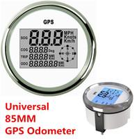 odometer car NZ - Universal 9-32V Waterproof GPS Digital Speedometer Odometer Gauge For Auto Car Truck Marine 85mm