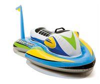 bote flotante al por mayor-Esquí Barco para niños Piscina inflable Flotador Balsas flotador para bebé Scooter de agua Tubos de natación Verano para niños Juguete acuático Paseo en la piscina
