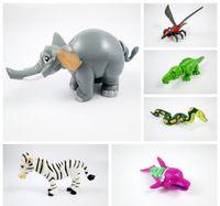 Wholesale Snake Eggs - Mini Animal blocks kids cute DIY toys elephant dolphin zebra Crocodile snake funky twist egg toys capsule toys sales promotion party gifts