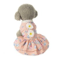 küçük köpek tutu toptan satış-Pet Giysi Yaz Küçük Pet Köpek Çiçek Tutu Elbise Güzel Köpek Küçük Köpekler Için Flowel Dantel Vestidos Giyim