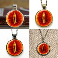 Wholesale Eye Sauron - 10pcs Eye of Sauron Lord of the dragon glass Necklace keyring bookmark cufflink earring bracelet