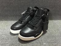 Wholesale Sail Shoes Men - 2016 Guarantee Men 4 IV RETRO PREMIUM 819139-010 CROC PINNACLE BLACK SAIL Men basketball Shoes Sport Retro 4 Premium Black Size 41-47
