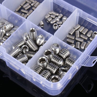 Wholesale Stainless Steel Allen Screws - 200Pcs Stainless Steel Allen Head Socket Hex Set Grub Screw Assortment