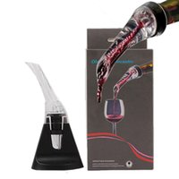 Wholesale Decanter Box - Olecranon Pourer Fast Decanter Hawk Wine Aerating Pourer Red Wine Essential Tool Mini Travel Aerator with retail box