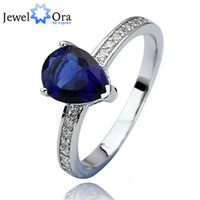 Wholesale Silver Butterfly Rings For Women - Fashion Blue Stone Ring Butterfly Accessories 925 Sterling Silver Rings For Women ( RI101029) 17401