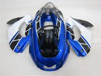 1996 yzf verkleidung großhandel-3 Geschenk Neue heiße ABS Motorrad Verkleidung Kits 100% Fit für YAMAHA YZF 1000RR YZF-1000RR 1996-2007 YZF1000RR Blau Weiß Schwarz
