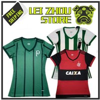 Wholesale Young Women - Best stock quality 2017 18 Palmeiras women's home away soccer jerseys 2018 CR Flamengo women's young girls sports football SHIRTS