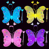 Wholesale double butterfly toy for sale - Group buy Children s double butterfly wings three pieces of angel wings dance decorations performance props toys