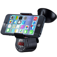 Wholesale FM09 Multi function Handsfree Car Kit FM Transmitter MP3 Audio Player with Car Suction Holder Mount for Mobile Phone GPS