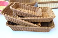 essen abstellraum großhandel-Rattan Handarbeit Korb Aufbewahrungskoffer mit Brot Lebensmittel Obstkörbe Snack Süßigkeit Fach für Küche Wohnzimmer ZA3021