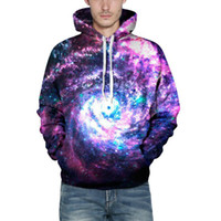Wholesale Worm Coat - 2017 New Worm Hole Hoodie All Over Print Hoody Sweatshirts Space Galaxy Coat Unisex Clothing Men