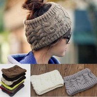 Wholesale Cloche Crochet Wholesale - fashion women's adults lady crochet winter autumn empty wool hats womens wool caps wide headbands children's hats ear neck warmer JF-121