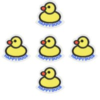 Wholesale Duck Stickers - Diy Duck patches for clothing iron embroidered patch applique iron on patches sewing accessories badge stickers for clothes bags