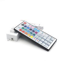 ingrosso uscite del controller rgb-Connettori doppi Uscita DC12V Controller RGB 44 tasti Dimmer remoto IR per due rotoli 3528 2835 5050 LED Light Striping Controlling