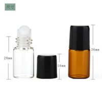 Wholesale essential oils factories for sale - Group buy Cheapest Factory Price Amber Clear Roller Mini Bottles ml Roll On Bottles For Essential Oil with Black White Lids Free DHL