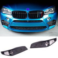 Wholesale Wavy Style Carbon fiber Front Upper Splitters Inserts Fit For BMW F85 X5M F86 X6M