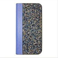 Wholesale Case Iphone Rocks - Rock Luxury Crystal Rhinestone Wallet Case For IPhone 7 6s 6 Plus SE 5s 5 Bliing Glitter Diamond Flip Cover OPP BAG