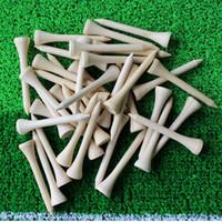 el golf de madera más caliente al por mayor-Al por mayor-Libre 500pcs / lot 54mm Pelota de golf Tees de madera Accesorios de madera de golf caliente