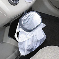 Atacado-Veículo Frame Garbage Bag Holder Organizador carro Folding Suspensão Portátil Trash Bag Rack Rubbish Bin Car Styling