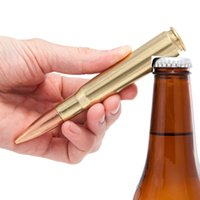 Wholesale Great Shipping - Creative bullet bottle opener Shell case shaped opener Great gift idea for military fan Free shipping