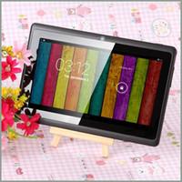 polegadas comprimidos 4,4 venda por atacado-7 Polegada Tablet PC A33 Quad Core Q88 Allwinner Android 4.4 KitKat Capacitivo 1.5 GHz DDR3 512 MB RAM 8 GB ROM Câmera Dupla Lanterna 7 polegadas MQ50