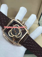 Wholesale fashion watchs - 2017 High Qulity Brand Men Quartz Watchs Leather Band brown Dial Chronograph original clasp Watch Analog free Shipping