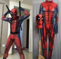 Wholesale deadpool costume zentai for sale - Lycra Men s The Avengers Deadpool Costume Cosplay Original Edition Clothing D Printing Tights Zentai Good Permeability S XXL