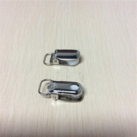 Wholesale Project Holders - Wholesale-free shipping & hot sale 18 Pcs Metal Oval Shape Pacifier Suspender Clips Holders For Project Craft