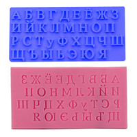 Wholesale Russian Mold - New Arrival Russian Alphabet Cake Mold Fondant Cake Molds Soap Chocolate Mold For The Kitchen Baking Cake Tools 2pcs Free china post