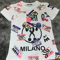 Wholesale Designer Fashion Ladies T Shirt - Designer Womens T Shirts Graffiti Print Ladies Tops Street Style Short Sleeve Letter Summer Womens Tees