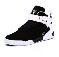 Wholesale Canvas High Platform - Hot Selling Solid Color Hip Hop Shoes Men White Dance Shoes Platform High Increased Men High Tops Sapatos Masculinos Plus size Walking shoes