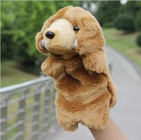 Wholesale Hand Puppet Dog Toy - Children Animal Dog Hand Puppet Baby Early Educational Cartoon Dog Dolls Kids Bedtime Stories Soft Plush Toys