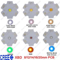 Wholesale Cree Q5 Led Emitter - Wholesale- 10x Cree XLamp XB-D XBD Q5 Warm Cold Neutral White Cool White Red Royal Blue Green 3W Hight Power LED Emitter 12 14 16 20mm PCB