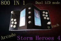 Wholesale Building Home Design - The latest dual LED Mini arcade, all iron chassis design, continued home arcade gameplay, built in 9 inches double LED,Double rally mode.