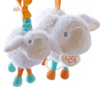 Wholesale Lamb Baby Gifts - Wholesale- SHILOH Pull Mobile baby Bed Hanging Baby Rattle Animal Plush Toy Hand Bell New Born Infant Gift Educational Musical Lamb Toy