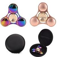Wholesale Rainbow Choice - New Rainbow fidget spinner EDC Hand Spinner Fidget Toy Good Choice For decompression anxiety Finger Toys rainbow color aluminum DHL OTH394
