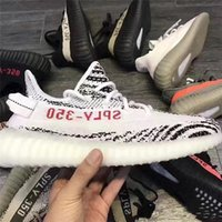 Wholesale pirate ship fabric - 2017 SPLY-350 Boost V2 New Kanye West Boost 350 V2 SPLY Running Shoes Pirate Black Red Words SPLY350 Free Shipping