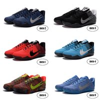 Wholesale Cheap Plaid Tops - Authentic Top Quality Kobe 11 Elite Shoes Eu size 41-46 US size 8-12 2016 New Arrive Shoes For Cheap Mix Order and Drop Shipping Available