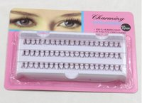 Wholesale Extension Mm - 60pcs Set 10 12 mm Individual Lashe Black Natural Fake False Eyelash Long Cluster Extension Makeup