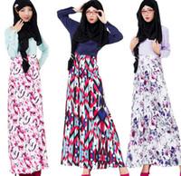 Wholesale Wholesale Islamic Dresses - muslim dress women dresses islamic clothes arabia clothing long dress women muslim clothes D145